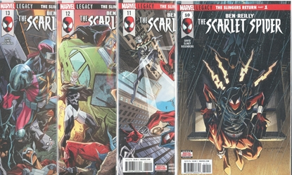 Picture of BEN REILLY SCARLET SPIDER #10-13 SLINGERS RETURN SET NM