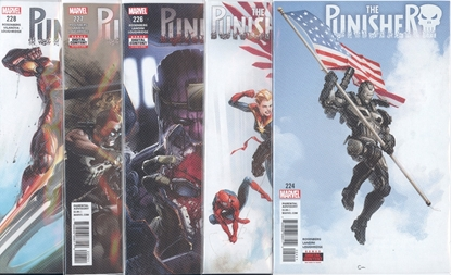 Picture of PUNISHER #224-228 WAR MACHINE SET NM