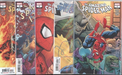 Picture of AMAZING SPIDER-MAN (2018) #1-5 BACK TO BASICS SET NM