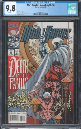 Picture of MARC SPECTOR MOON KNIGHT (1989) #58 CGC 9.8 NM/MT WP