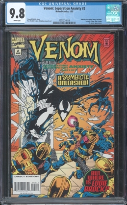 Picture of VENOM SEPARATION ANXIETY (1994) #2 CGC 9.8 NM/MT WP