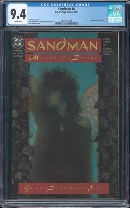 Picture of SANDMAN (1989) #8 CGC 9.4 NM WP