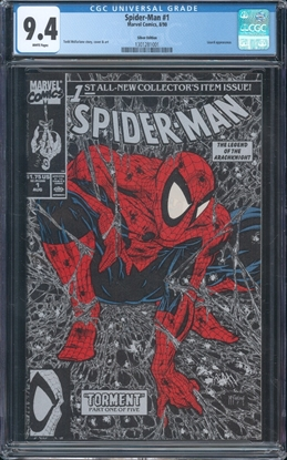 Picture of SPIDER-MAN (1990) #1 CGC 9.4 NM SILVER EDITION