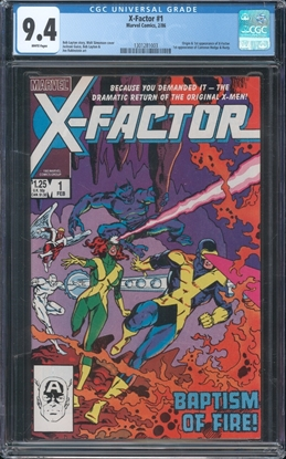 Picture of X-FACTOR (1986) #1 CGC 9.4 NM WP