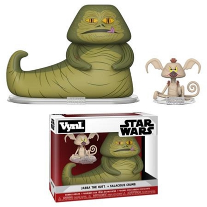 Picture of FUNKO VINYL STAR WARS 2PK JABBA THE HUT + SALACIOUS CRUMB NEW FIGURES