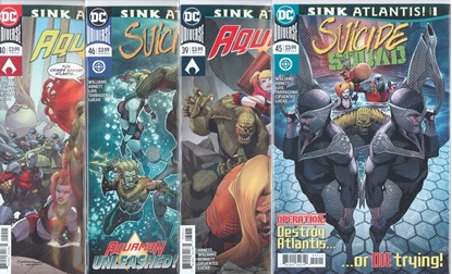 Picture of SUICIDE SQUAD #45 46 AQUAMAN #39 40  SINK ATLANTIS SET NM