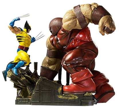Picture of Wolverine vs Juggernaut  Diorama statue