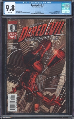 Picture of DAREDEVIL (1991) #1 CGC 9.8 NM/MT WP 1ST MARVEL WORK BY  KEVIN SMITH