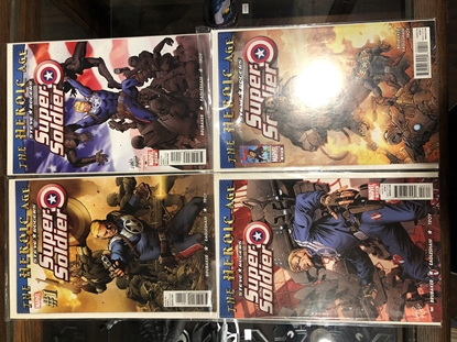 Picture of HEROIC AGE STEVE ROGERS SUPER SOLDIER #1 2 3 4 SET