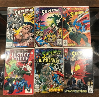 Picture of DEATH OF SUPERMAN DOOMSDAY  FUNERAL FOR A FRIEND SET VF/NM