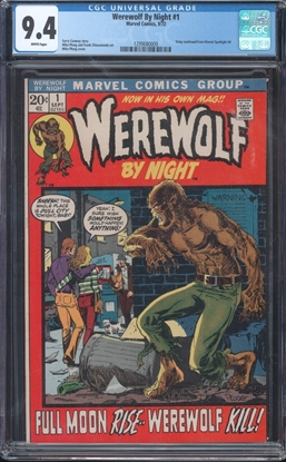 Picture of WEREWOLF BY NIGHT #1 CGC 9.4 NM