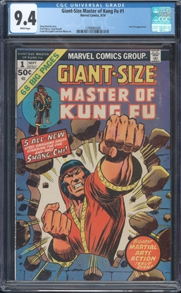 Picture of GIANT-SIZE MASTER OF KUNG-FU (1974) #1 CGC 9.4 NM