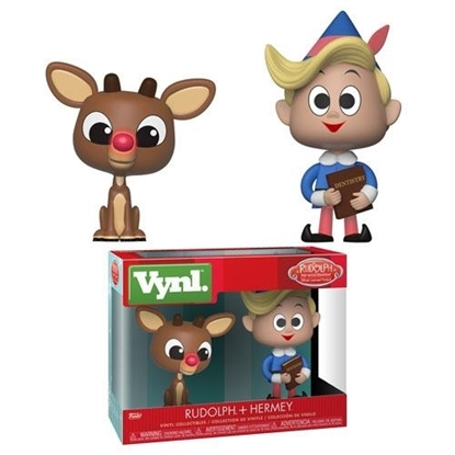 Picture of FUNKO VYNL RUDOLPH THE RED-NOSED REINDEER RUDOLPH + HERMEY 2PK NIB