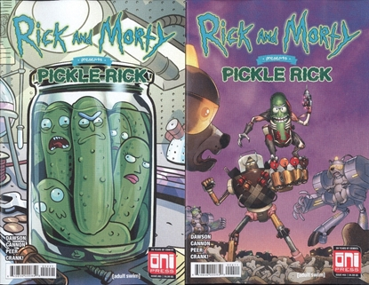 Picture of RICK & MORTY PRESENTS PICKLE RICK #1 CVR A & B SET NM