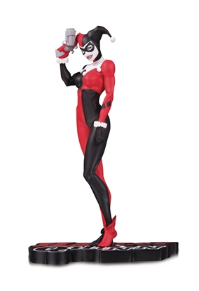 Picture of HARLEY QUINN RED WHITE & BLACK STATUE BY MICHAEL TURNER