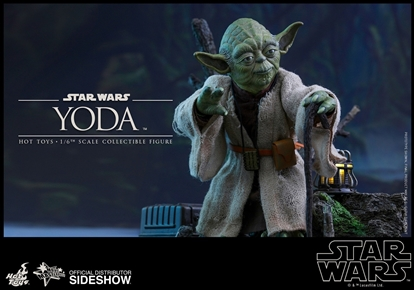 Picture of Yoda Movie Masterpiece Series 1/6 Scale Figure HOT TOYS SIDESHOW