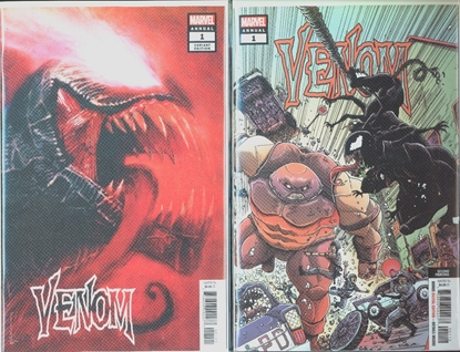 Picture of VENOM ANNUAL #1 2ND PRINT & VAR COVER SET NM