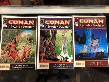 Picture of CONAN AND THE JEWELS OF GWAHLUR #1 2 3 SET