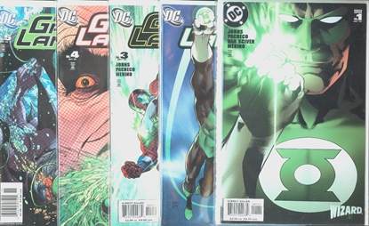 Picture of GREEN LANTERN (2005) #1 2 3 4 5 WIZARD COVER SET
