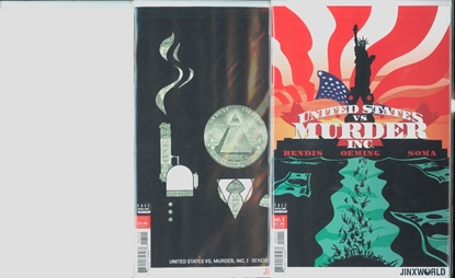 Picture of UNITED STATES OF MURDER INC #1 1ST PRINT BLANK & VARIANT 3 COVER SET NM