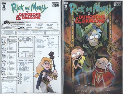 Picture of RICK & MORTY VS DUNGEONS & DRAGONS #3  CVR A & B SET