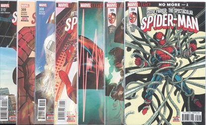 Picture of PETER PARKER SPECTACULAR SPIDER-MAN #304-310 COMING HOME SET NM