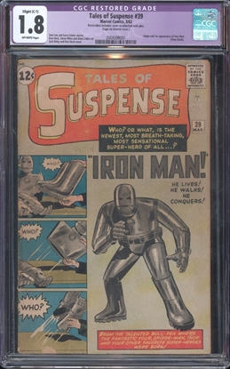 Picture of TALES OF SUSPENSE (1959) #39 CGC 1.8 GD- OW RESTORED