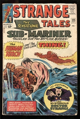 Picture of STRANGE TALES #125 3.0 GD/VG