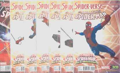 Picture of AMAZING SPIDER-MAN (2014) #9-14 1:25 VARIANT +15 SPIDER-VERSE SET NM