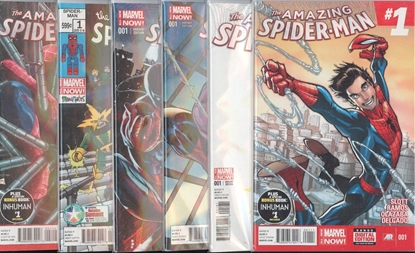 Picture of AMAZING SPIDER-MAN (2014) #1 VARIANT COVER 6 SET NM