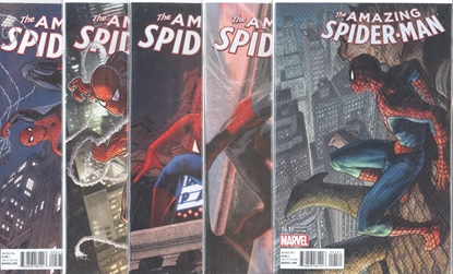 Picture of AMAZING SPIDER-MAN (2014) #16.1-20.1 SPIRAL VARIANT COVER SET NM