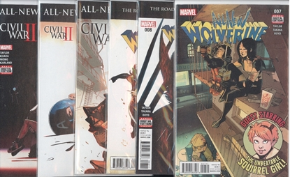 Picture of ALL NEW WOLVERINE #7-12 CIVIL WAR II SET NM