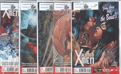Picture of ALL NEW X-MEN #11-15 OUT OF THEIR DEPTH SET NM