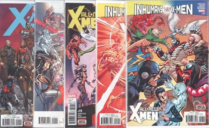 Picture of ALL NEW X-MEN INEVITABLE #17-19  ANNUAL #1 & X-MEN PRIME #1 2ND PRINT IVX SET