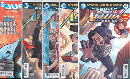 Picture of ACTION COMICS #963-966 & JUSTICE LEAGUE #52 WELCOME TO THE PLANET SET NM
