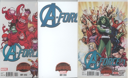 Picture of A-FORCE #1 1ST PRINT YOUNG & BLANK VARIANT COVER SET