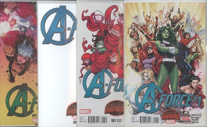 Picture of A-FORCE #1 1ST PRINT YOUNG  BLANK & 1:25 VARIANT COVER SET