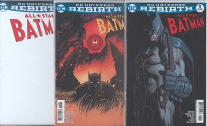 Picture of ALL STAR BATMAN #1 1ST PRINT BLANK & SHALVEY 3 CVR SET NM