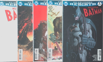 Picture of ALL STAR BATMAN #1 1ST PRINT BLANK  SHALVEY ROMITA JOCK 5 CVR SET NM