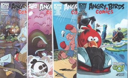 Picture of ANGRY BIRDS COMICS #1-4 WELCOME TO THE FLOCK SUB CVR SET NM