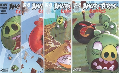 Picture of ANGRY BIRDS COMICS #5-8 WHEN PIGS FLY SUB CVR SET NM