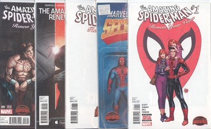 Picture of AMAZING SPIDER-MAN RENEW YOUR VOWS #1 1ST PRINT ANT-SIZED MAOS 5 COVER SET