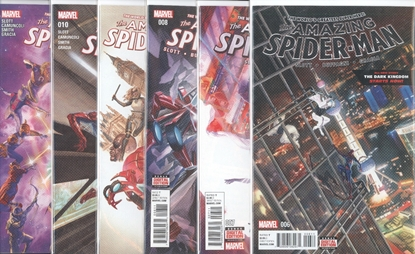 Picture of AMAZING SPIDER-MAN (2015) #6-11 WORLDWIDE PART 2  SET NM
