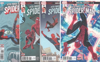Picture of PETER PARKER SPECTACULAR SPIDER-MAN #301-303 & ANNUAL #1 AMAZING FANTASY SET NM