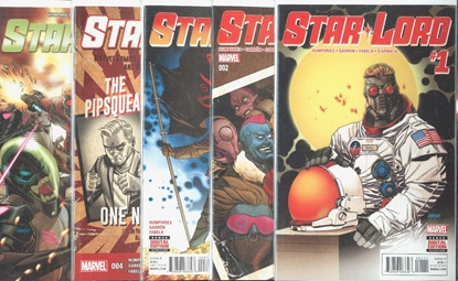 Picture of STAR-LORD (2015) #1-5 1ST PRINT SET FIRST FLIGHT