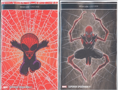 Picture of SUPERIOR SPIDER-MAN #1 1ST PRINT & YOUNG VAR CVR SET NM