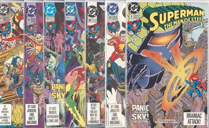 Picture of SUPERMAN PANIC IN THE SKY (1992) 7 PART SET VF/NM