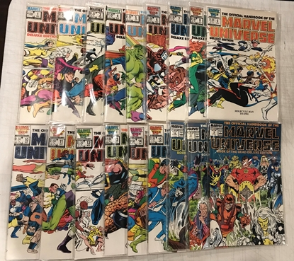 Picture of OFFICIAL HANDBOOK OF THE MARVEL UNIVERSE DELUXE EDITION 1-18 SET