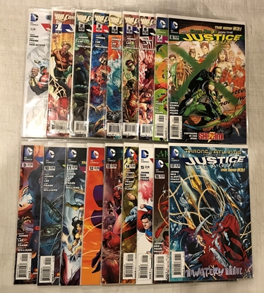 Picture of JUSTICE LEAGUE (2011) #0-17 1ST PRINT SET