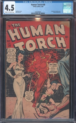 Picture of HUMAN TORCH (1940) #30 CGC 4.5 VG+ COW